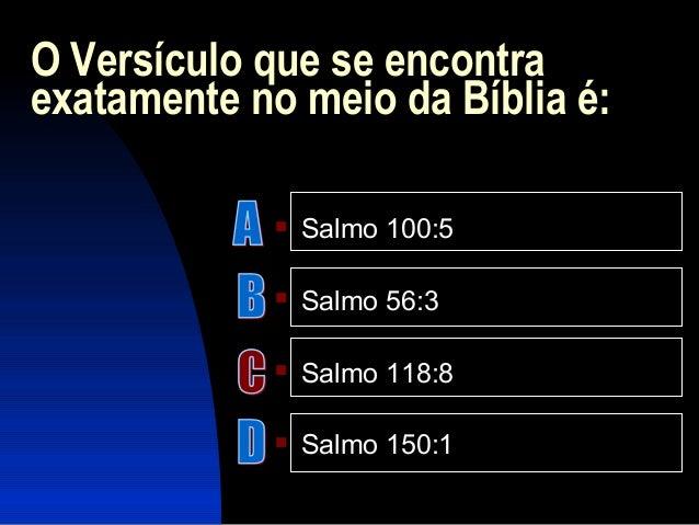 Perguntas Sobre Bíblia Sagrada