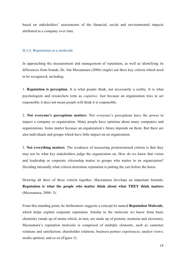 analyzing the effects of corporate reputation Of corporate reputation and effect of corporate reputation to brand validity of the questionnaire was determined by the use of exploratory factor analysis to.