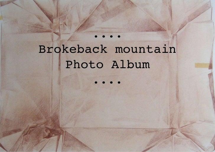 ....Brokeback mountain    Photo Album        ....