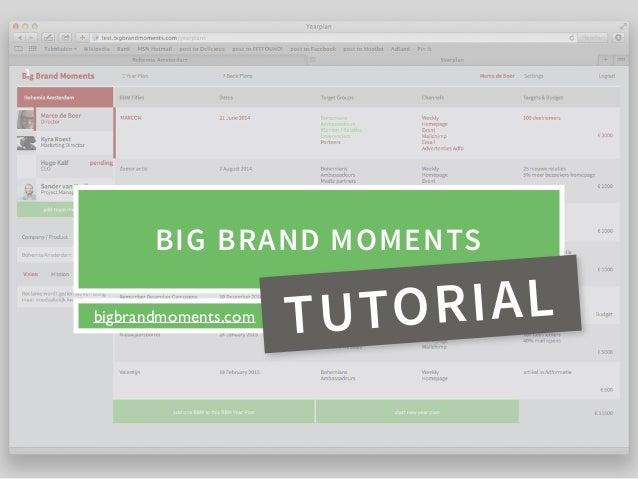 bigbrandmoments.com BIG BRAND MOMENTS 1 TUTORIAL