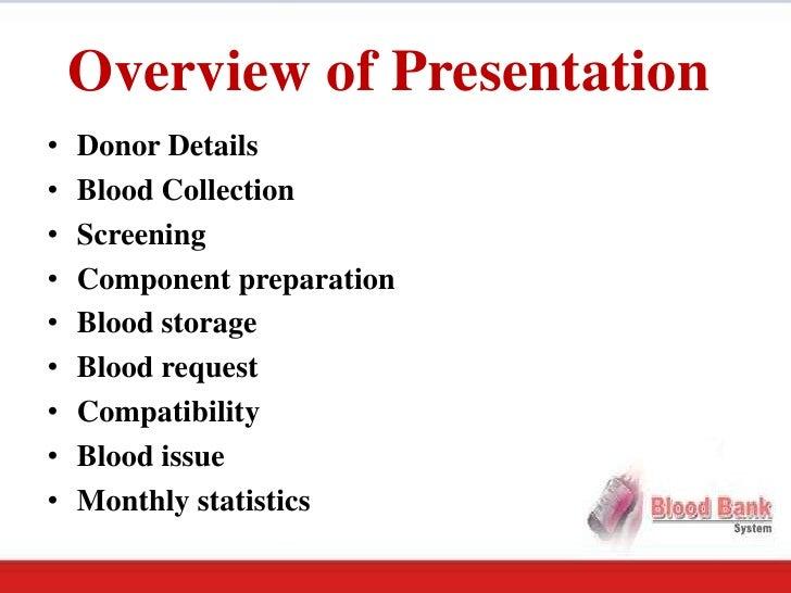 Blood Bank Software Presentation
