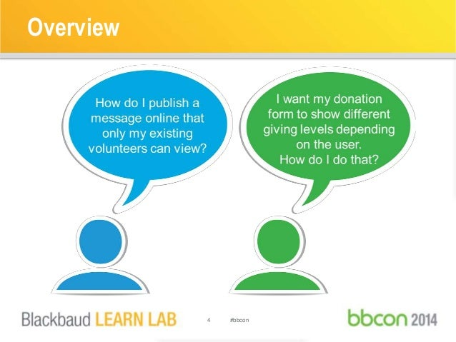 Overview  4 #bbcon