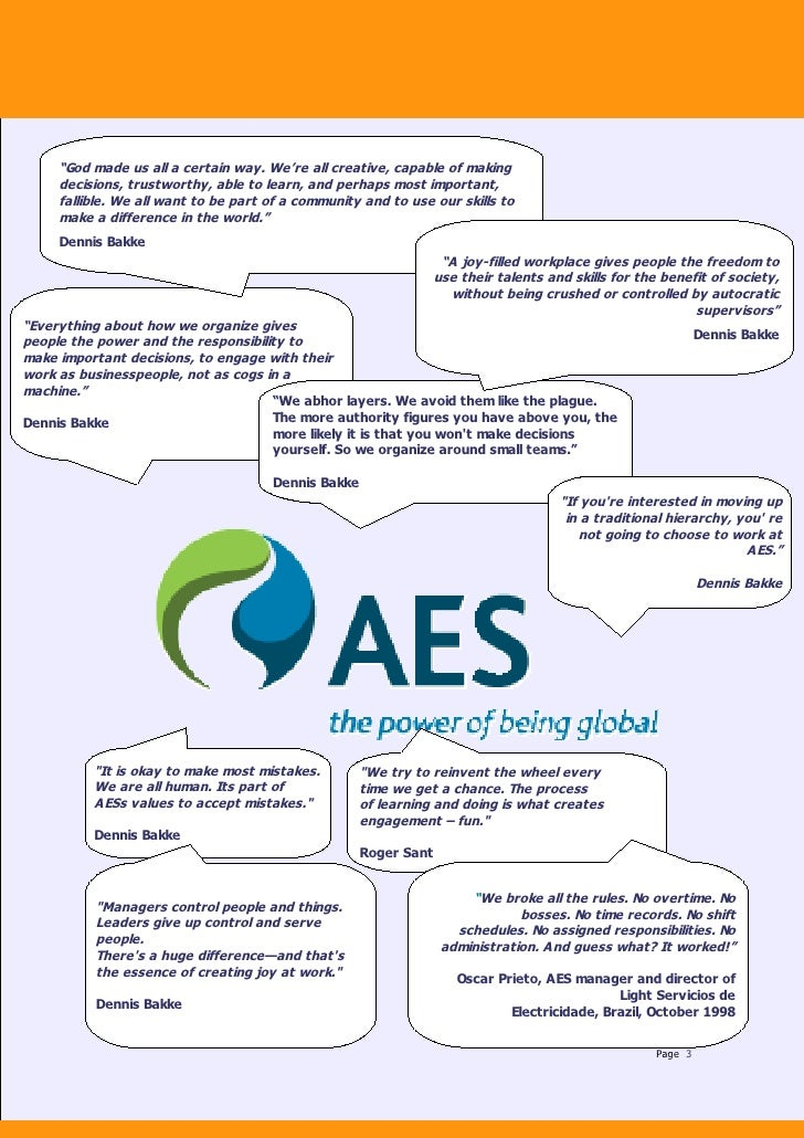 aes case study View aes case study from finance 10037 at jain university aes case study introduction rob venerus has been appointed the director of newly created corporate planning and analysis group at aes corp.