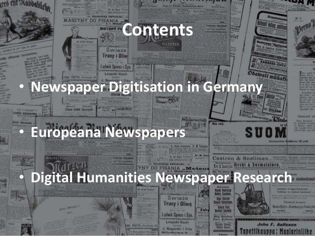 Extrablatt: The Latest News on Newspaper Digitisation in Europe Slide 2