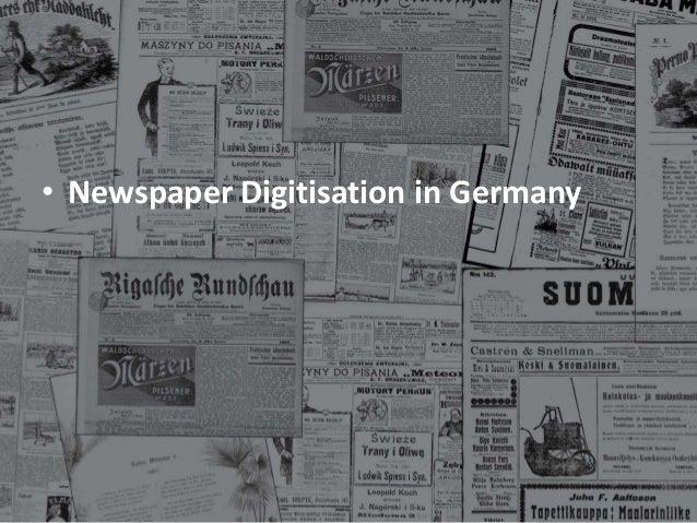Extrablatt: The Latest News on Newspaper Digitisation in Europe Slide 3