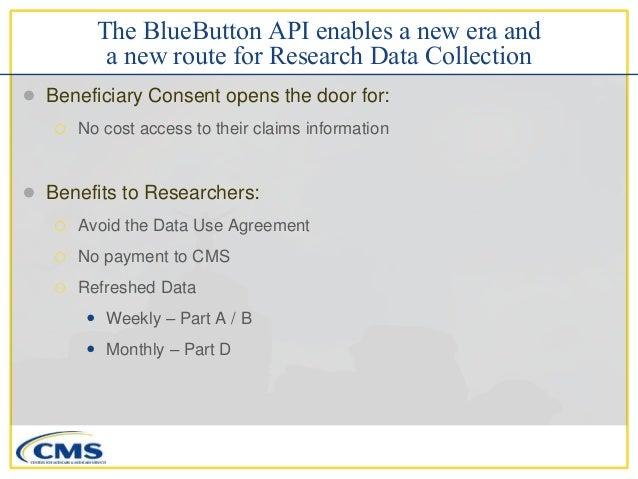 Cms Bluebutton On Fhir For Researchers Presentation To Nih And Pcor