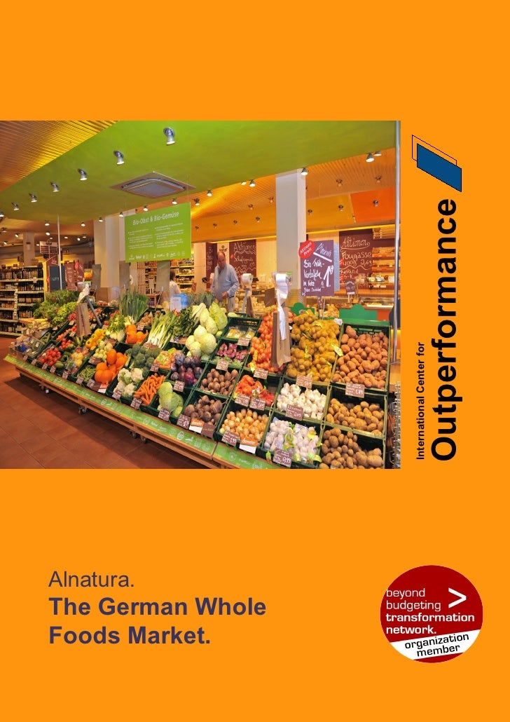 Outperformance                    International Center for     Alnatura. The German Whole Foods Market.                   ...