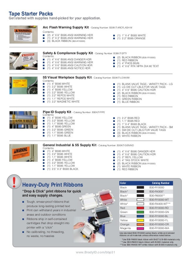 BBP31 Brochure, Pricing and parts list
