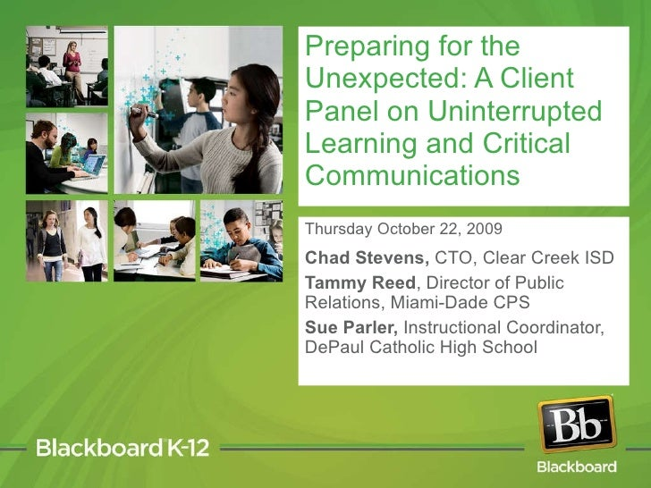 Thursday October 22, 2009 Chad Stevens,  CTO, Clear Creek ISD Tammy Reed , Director of Public Relations, Miami-Dade CPS  S...
