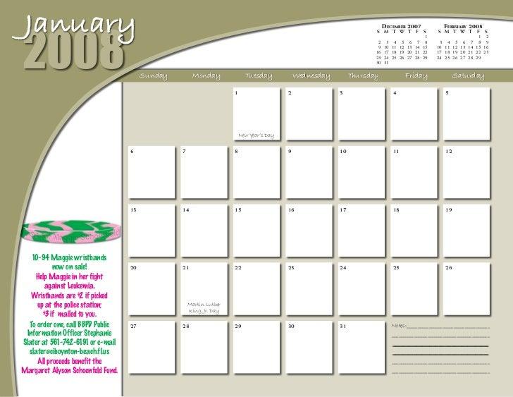 Bbpd 2008 Calendar