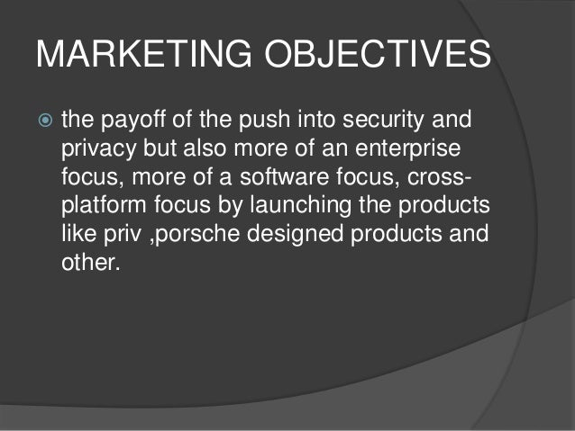 Blackberry marketing mix