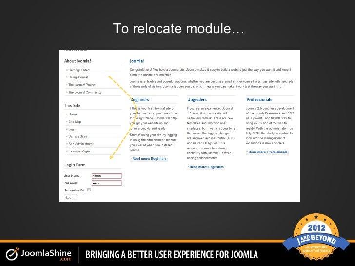 To relocate module…