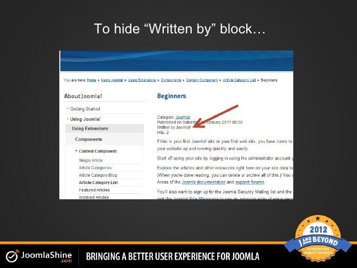 """To hide """"Written by"""" block…"""