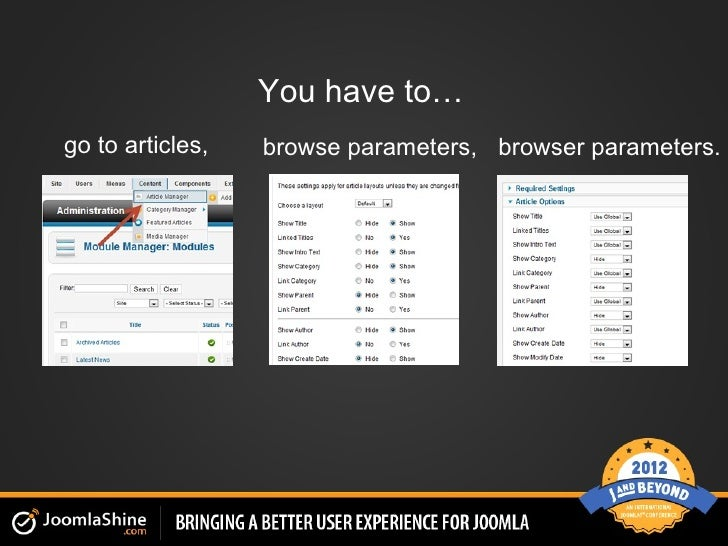 You have to…go to articles,   browse parameters, browser parameters.