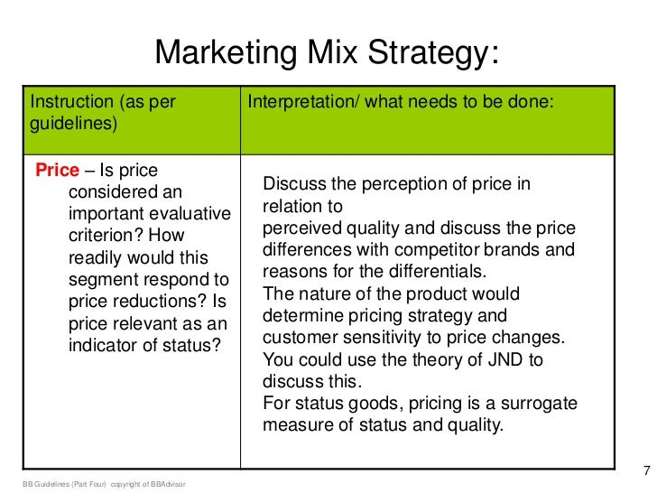 marketing mix recommendations Based on the parameter estimates, we provide strategic recommendations to p&g for a field test to validate our suggestions we developed a simulator for p&g managers so that they can generate appropriate marketing-mix strategies for achieving the desired value growth.