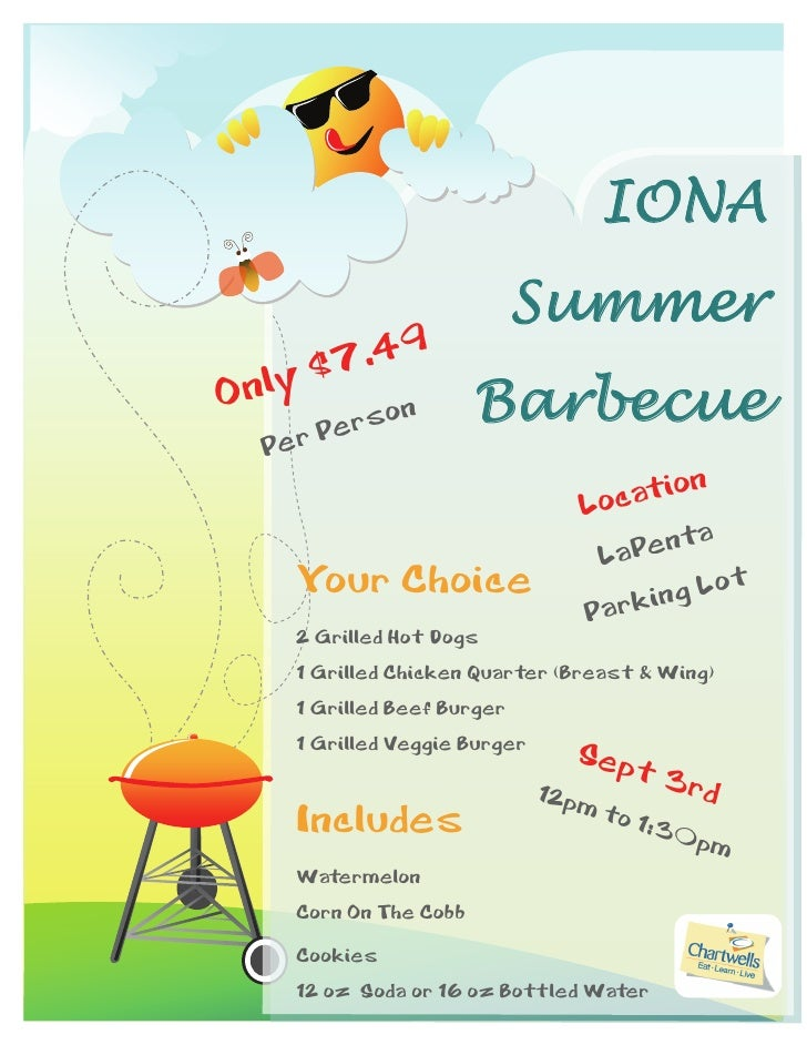 IONA                        Summer         .49On ly $7      Perso            n Barbecue Per                              L...