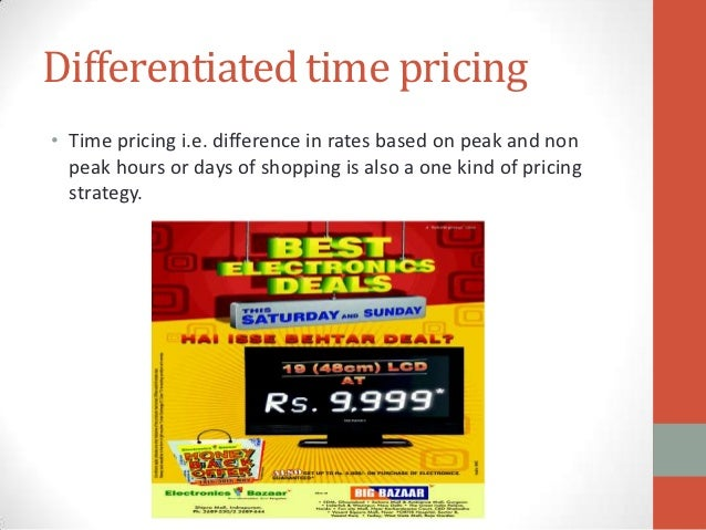 marketing mix used by big bazaar