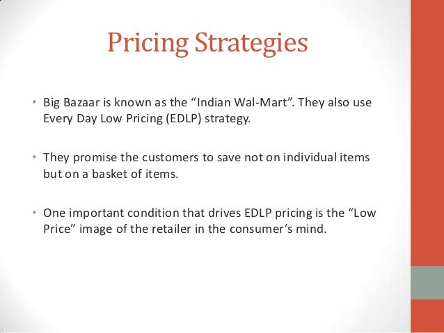 positioning of big bazaar