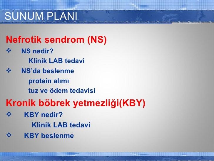 Böbrek hastalıklarında beslenme Slide 2