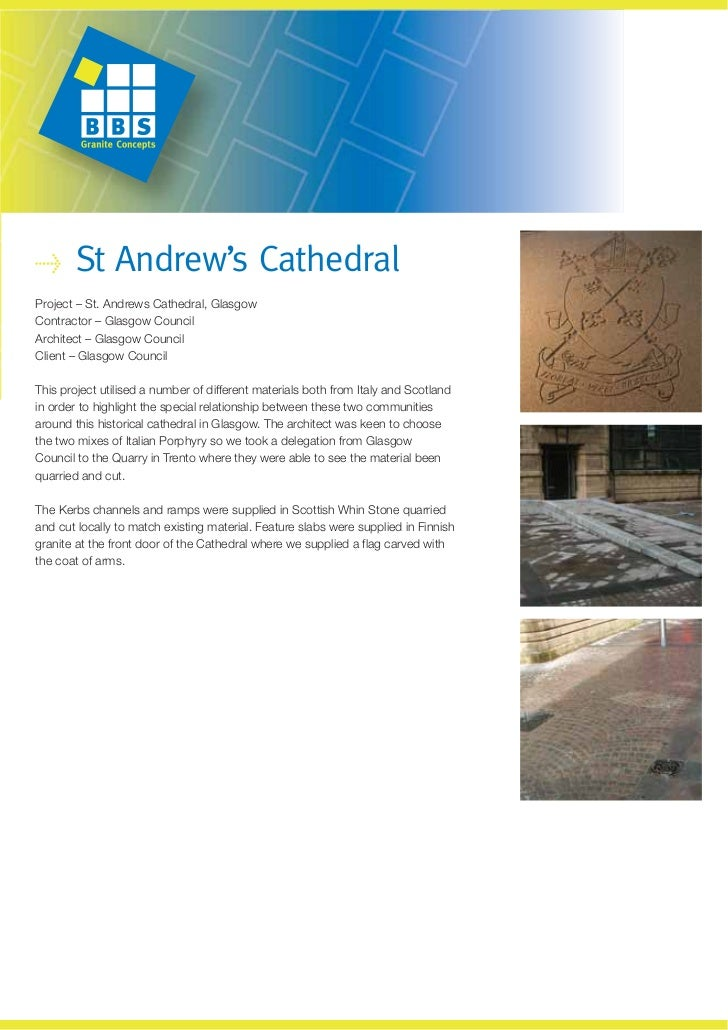 St Andrew's CathedralProject – St. Andrews Cathedral, GlasgowContractor – Glasgow CouncilArchitect – Glasgow CouncilClient...
