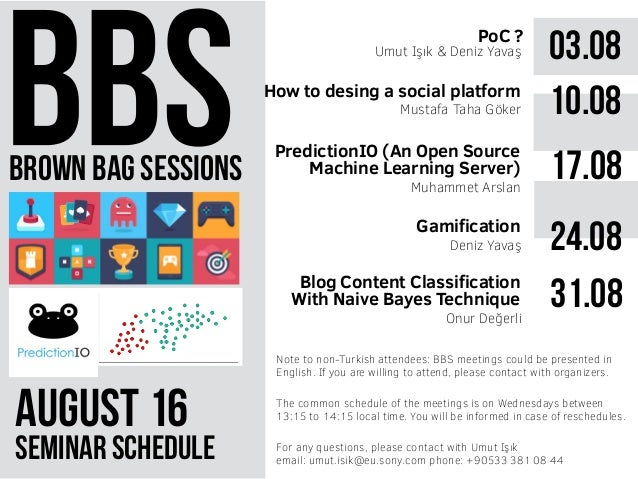 brown bag sessions August 61 seminar schedule The common schedule of the meetings is on Wednesdays between 13:15 to 14:15 ...