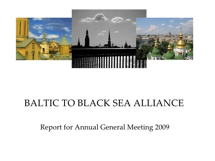BALTIC TO BLACK SEA ALLIANCE Report for Annual General Meeting 2009