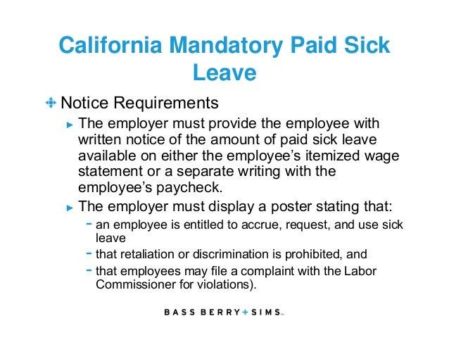 Employee Leaves Of Absence Flsa Fmla Ada And Aca