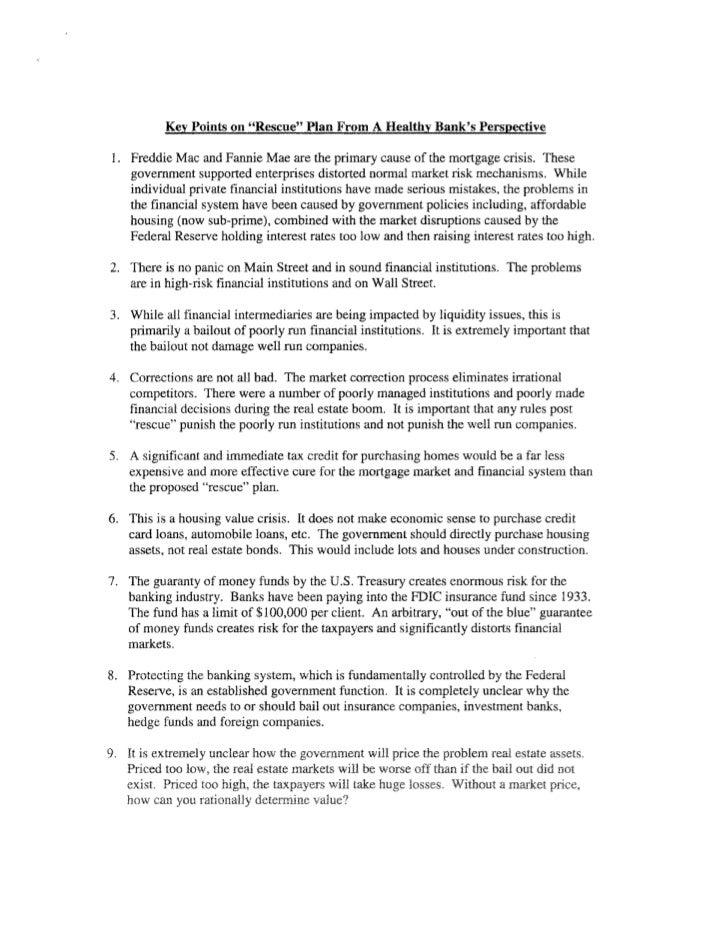 BB&T John Allison tstatement to congress