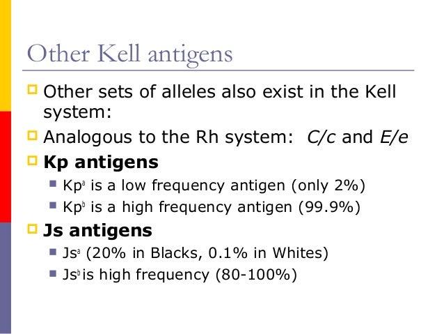 K Antigen Other Kell antigens  Other