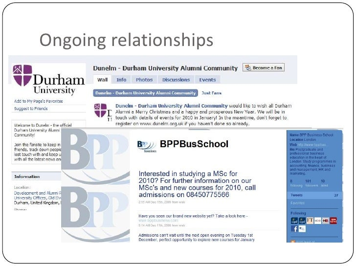 Ongoing relationships<br />