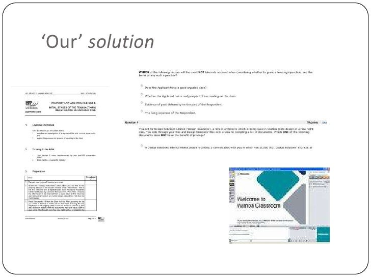 'Our' solution<br />