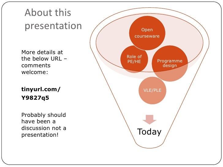 Whose education is it anyway? - Blackboard UK User Group 2010 Slide 2