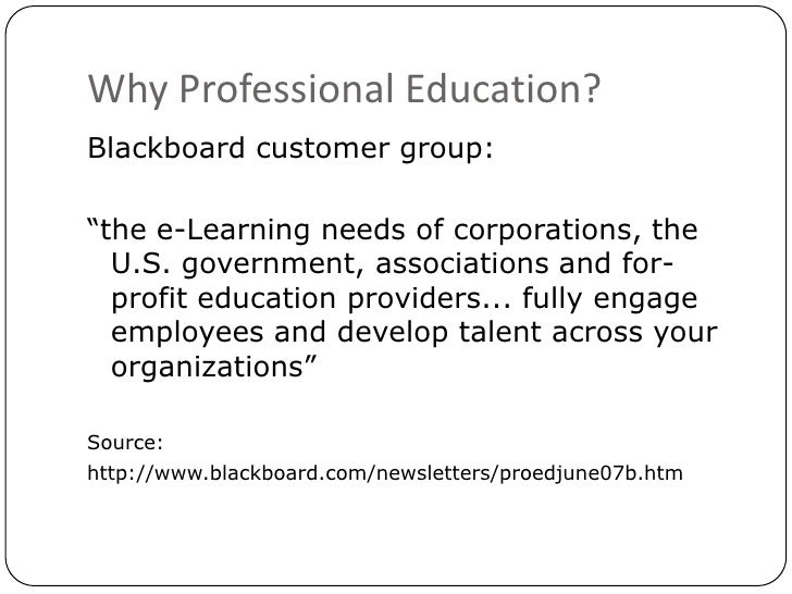 Whose education is it anyway? - Blackboard UK User Group 2010 Slide 3