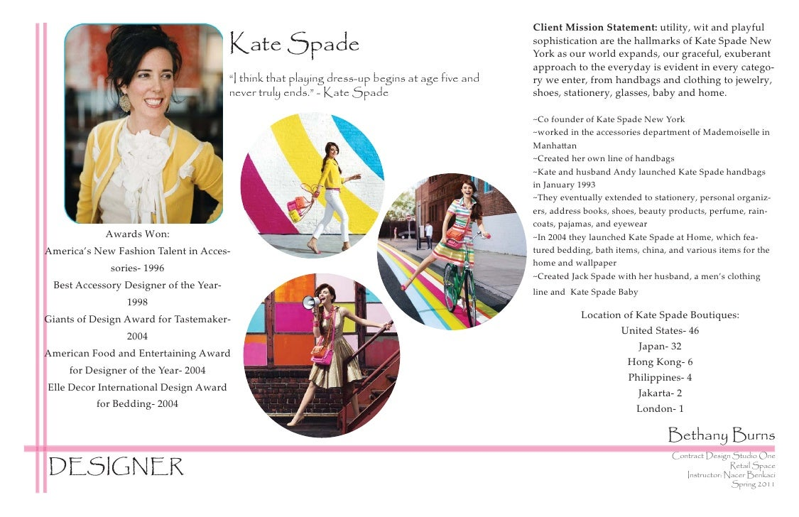 Client Mission Statement: utility, wit and playful                                        Kate Spade                      ...