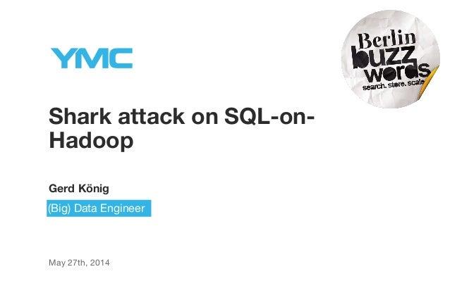 Shark attack on SQL-on- Hadoop Gerd König May 27th, 2014 (Big) Data Engineer