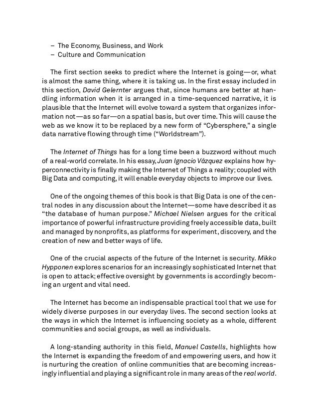 essay on life without internet