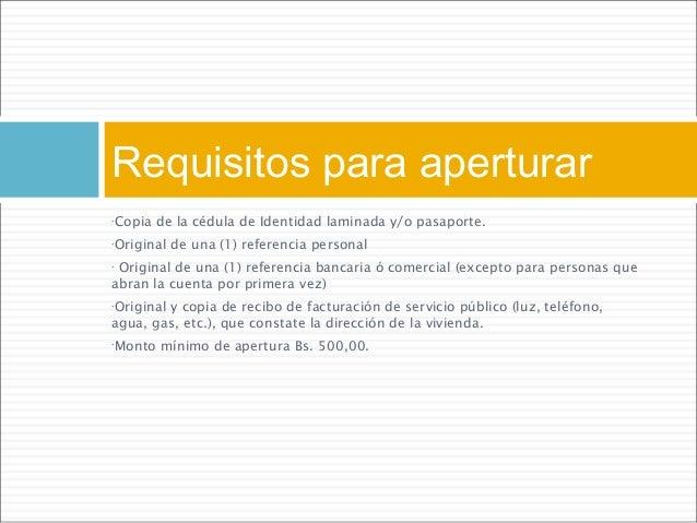 requisitos para abrir cuenta en el banco provincial en