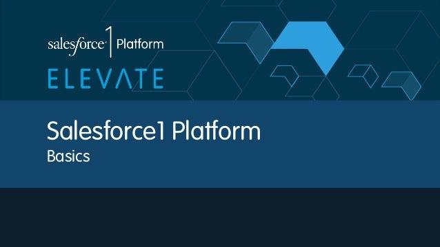Salesforce1 Platform Basics