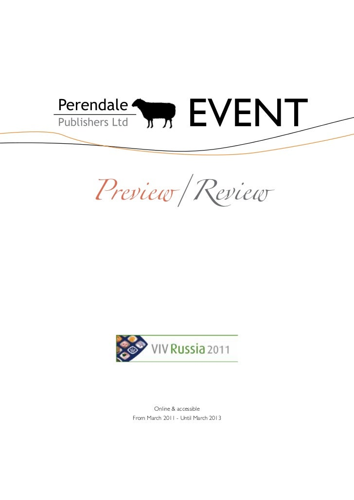EVENTPreview/Review          Online & accessible   From March 2011 - Until March 2013
