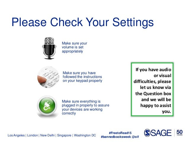 Los Angeles | London | New Delhi | Singapore | Washington DC Make sure your volume is set appropriately Make sure you have...