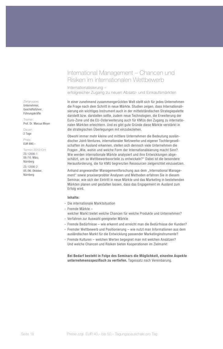 International Management – Chancen und                           Risiken im internationalen Wettbewerb                    ...