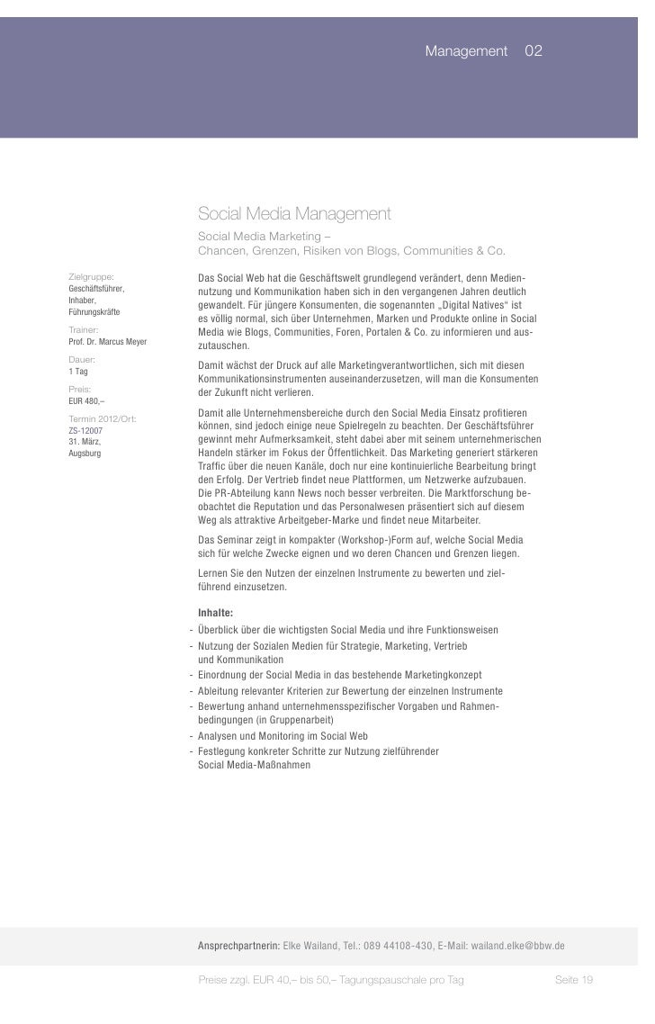 Management 02                           Social Media Management                           Social Media Marketing –       ...