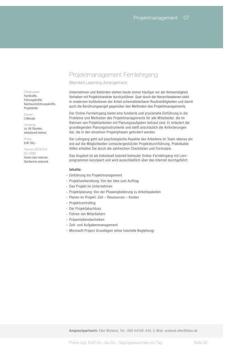 Training & Development 2012