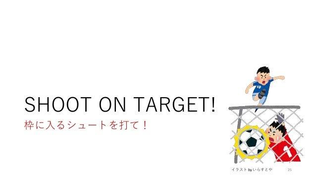 SHOOT ON TARGET! 枠に入るシュートを打て! 25イラスト by いらすとや