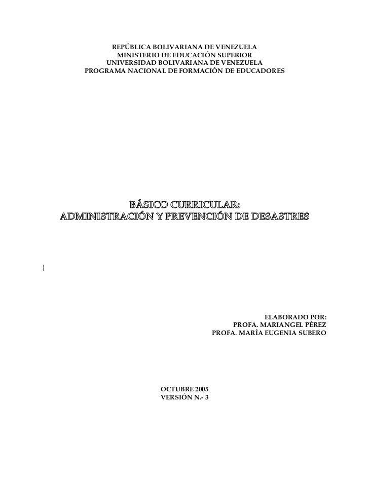 REPÚBLICA BOLIVARIANA DE VENEZUELA              MINISTERIO DE EDUCACIÓN SUPERIOR           UNIVERSIDAD BOLIVARIANA DE VENE...