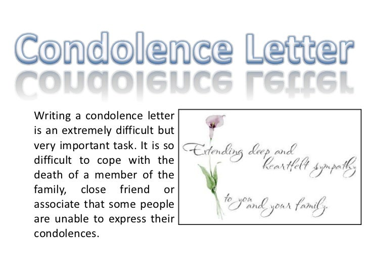 how to write a condolence letter - Diving.thexperience.co