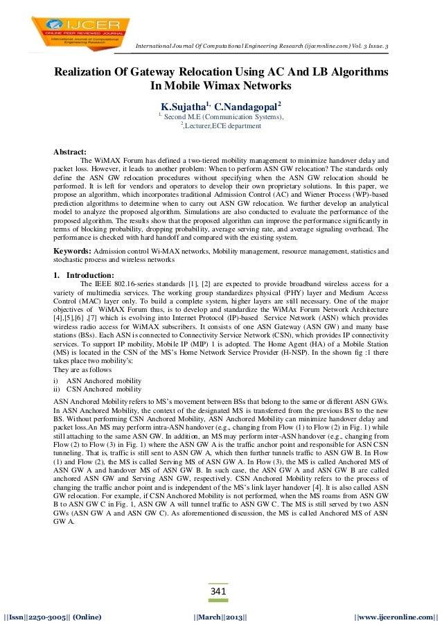 International Journal Of Computational Engineering Research (ijceronline.com) Vol. 3 Issue. 3341  Issn  2250-3005   (Onlin...