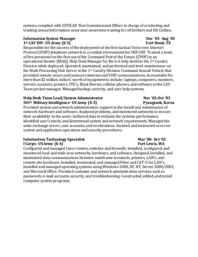 Ditscap resume