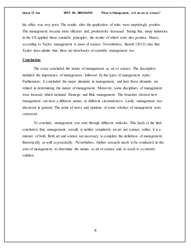 management in a global context essay  since the management in 8