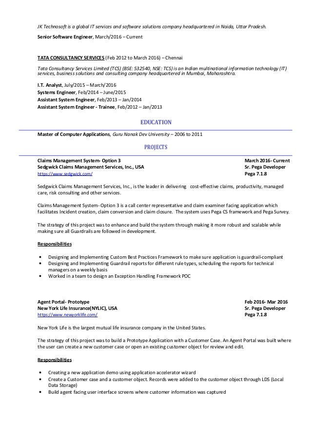 prototype resume business services